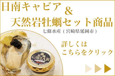 日南キャビア&天然岩牡蠣セット商品