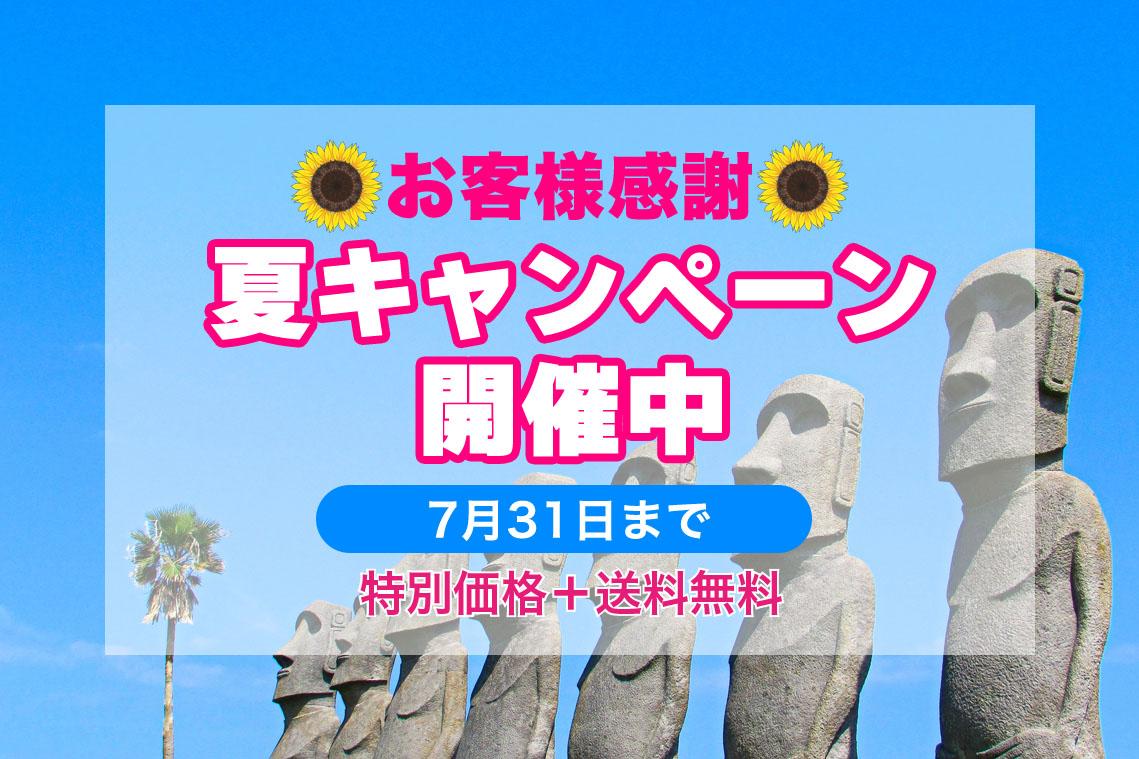 お客様感謝夏キャンペーン開催中7月31日まで送料無料